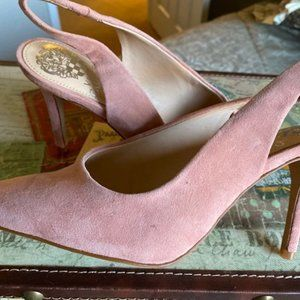 Vince Camuto Suede Champagne Pumps